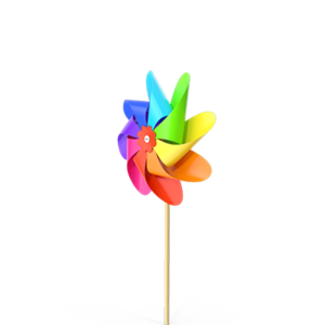 Colorful Pinwheel LBGTQA
